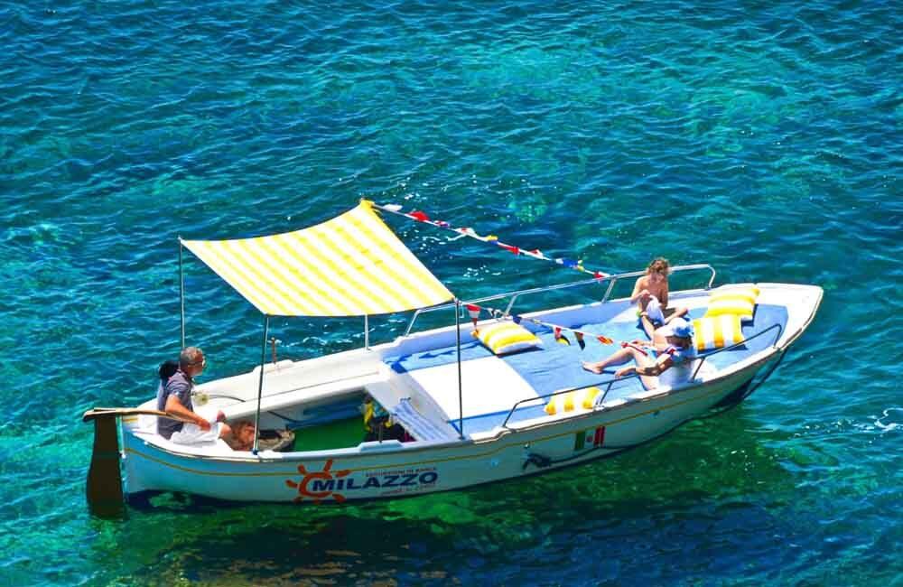 Escursione in gozzo Area Marina Protetta Capo Milazzo