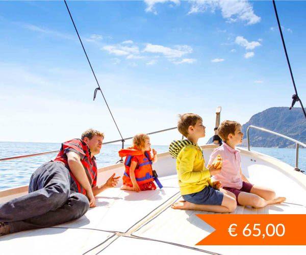 Mezza giornata in barca a vela nel golfo di Palermo